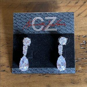 Cubic Zirconia drop earrings by Kenneth J Lane